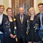 Honorary Consul Mr Torsten Ketelsen with German rotary exchange students